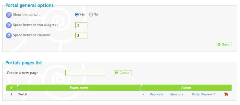 Setting the portal page as the 'default' page Pictur38
