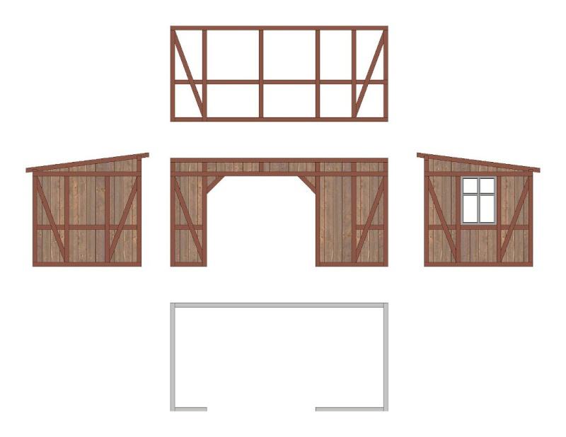 Eine kleine Wartehalle in H0 Ansich10