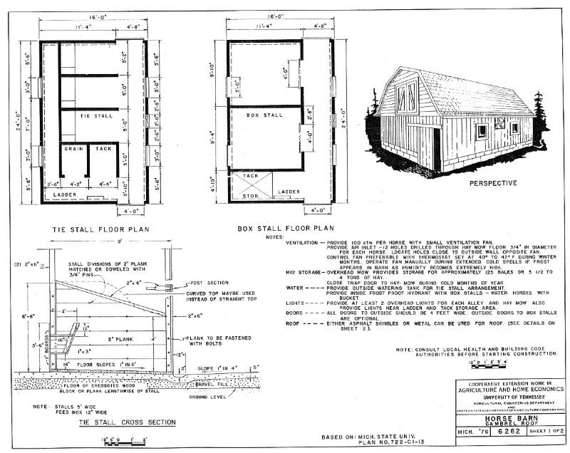 Pläne landwirtschaftlicher Gebäude aus den USA Pferde10