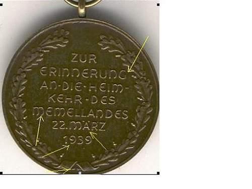 Avis Médaille Memel  Memel210