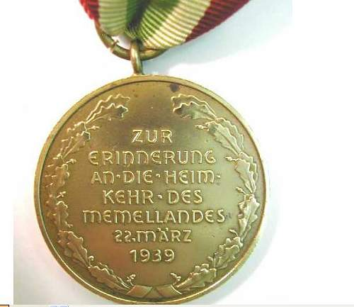 Avis Médaille Memel  Memel211