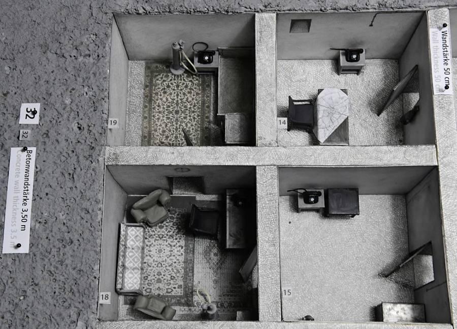 Le bunker du Führer reconstitué à Berlin Hitler12