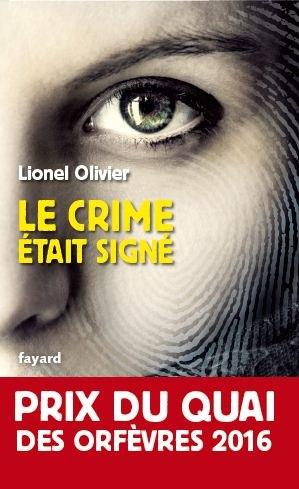 [Olivier, Lionel] Le crime était signé Couv3511
