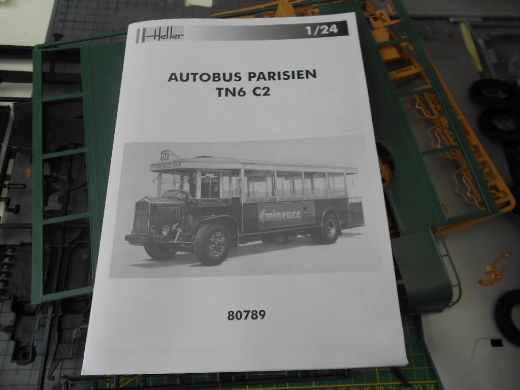 autobus - autobus parisien tn6 c2 1/24 heller *** Terminé en pg 4 *** Autoca15
