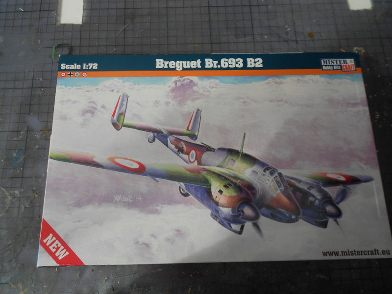 breguet Bre. 693 b2 1/72 mistercraft et kit azur  Bregue19