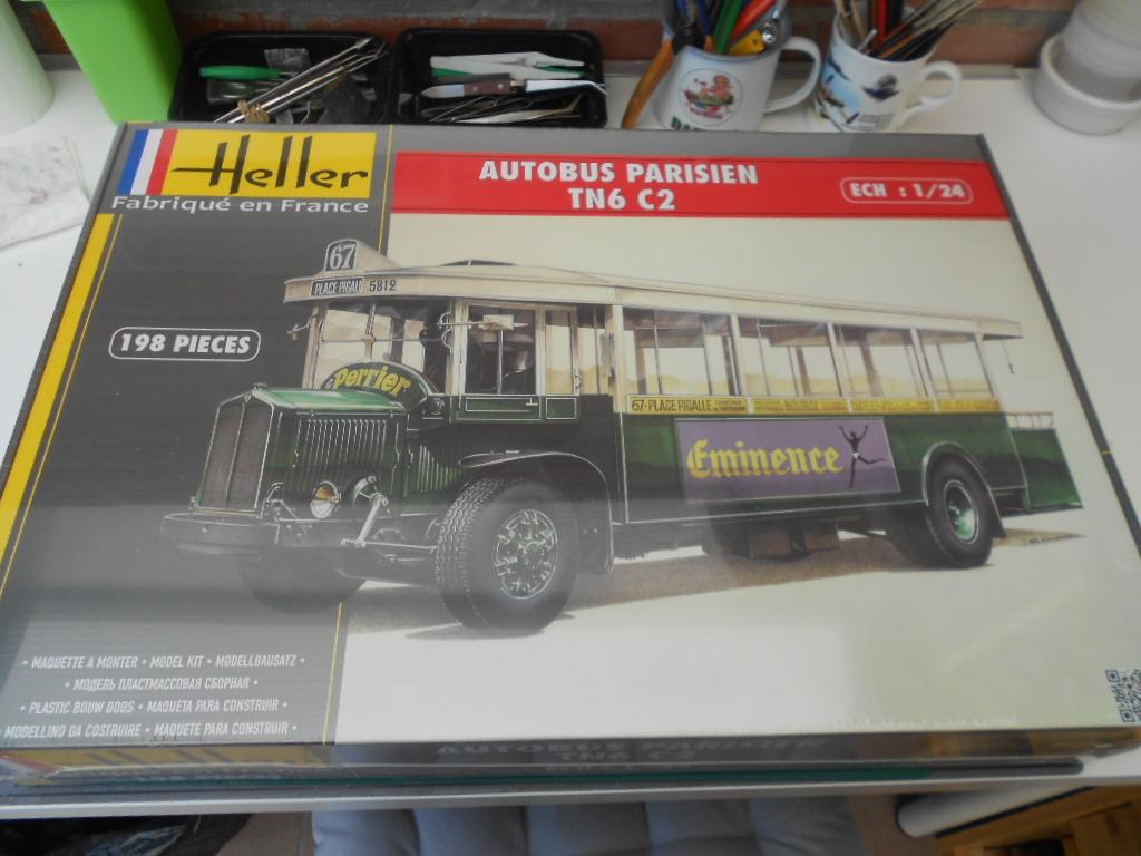 autobus - autobus parisien tn6 c2 1/24 heller *** Terminé en pg 4 *** Bus_p418