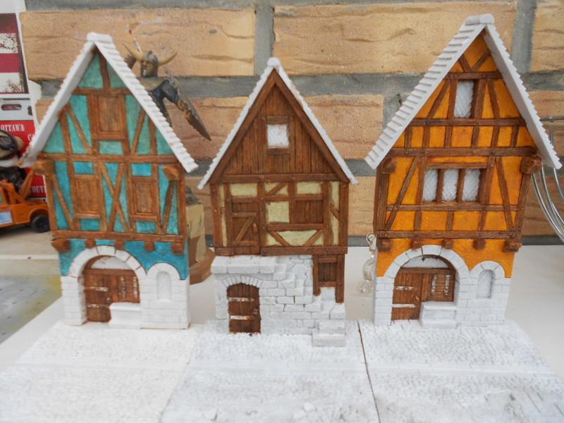 petite façade médiéval de marque fenryll echelle 25mm  Maison11