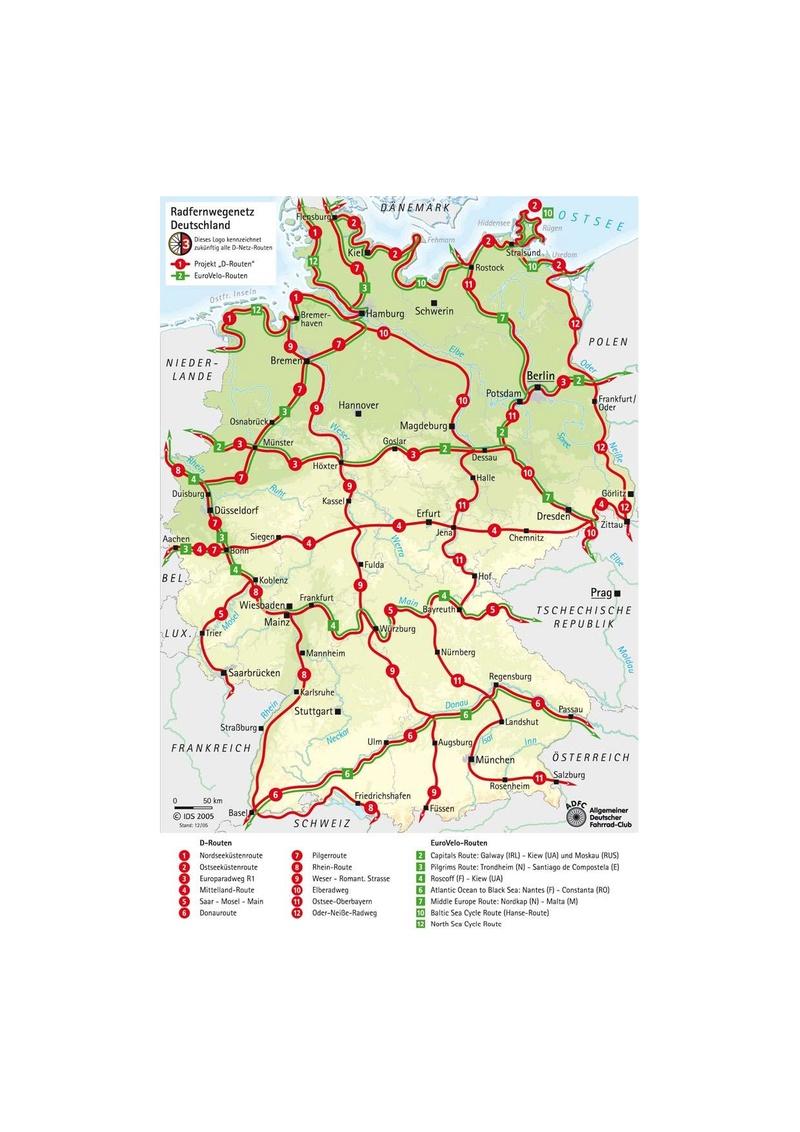 ALLEMAGNE  réseau de vois vertes - les chemins du rail Radfer10