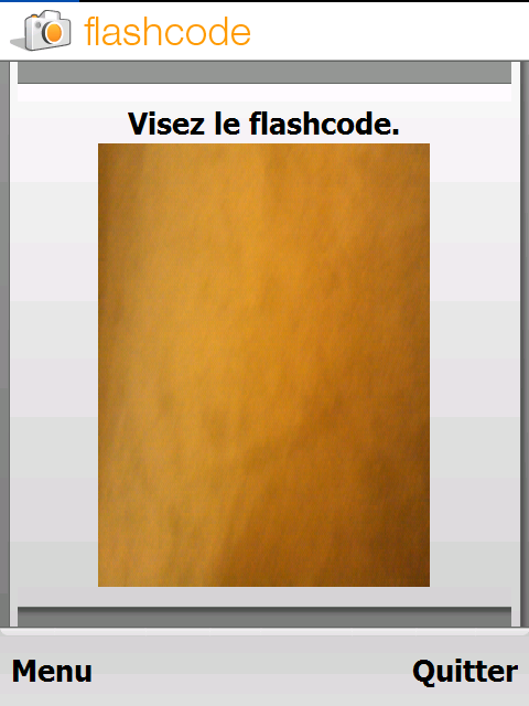 Application Flashcode (Lecteur code barre) Screen10