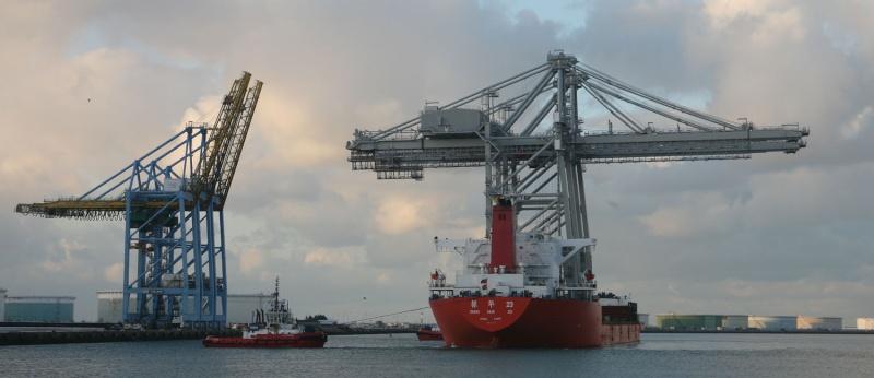 Deux nouveaux portiques au port du Havre Img_8414