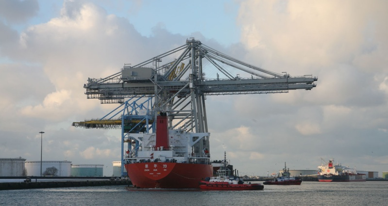 Deux nouveaux portiques au port du Havre Img_8415
