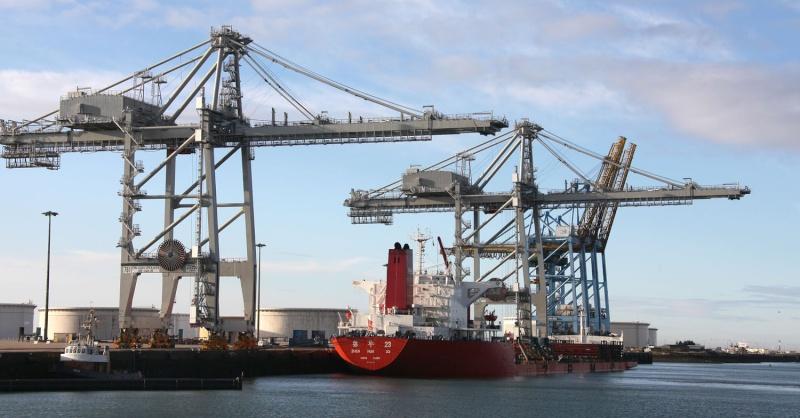 Deux nouveaux portiques au port du Havre Img_8416