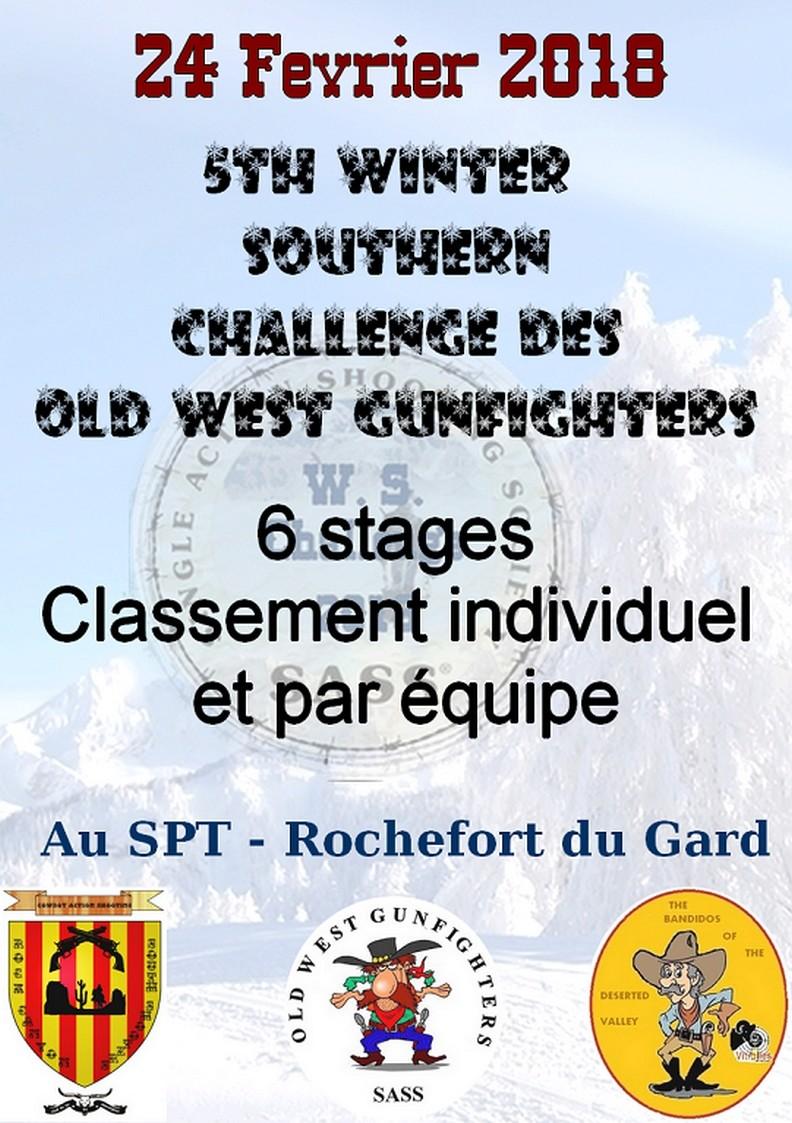 Winter Challenge....2éme manche à Rochefort Du Gard Affich13
