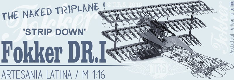 'Strip Down' Fokker DR.I / Artesania Latina, 1:16 Titel_10