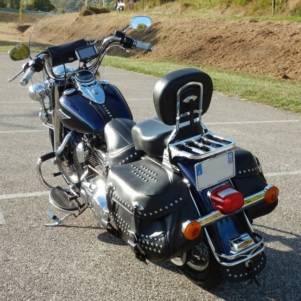 FLSTC HERITAGE Twin Cam 103 (1690cc), Big Blue Pearl / Viv Redime28