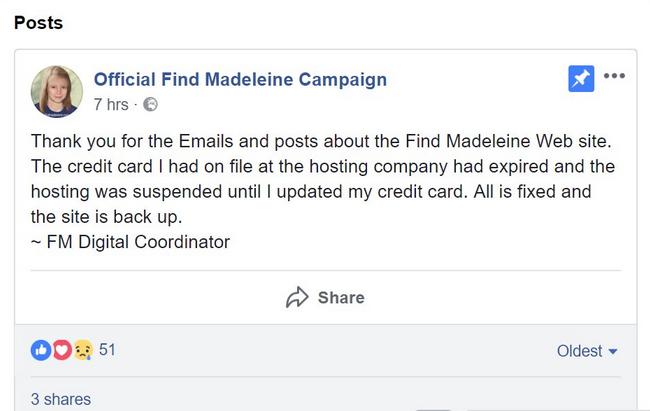 findmadeleine.com SUSPENDED 156