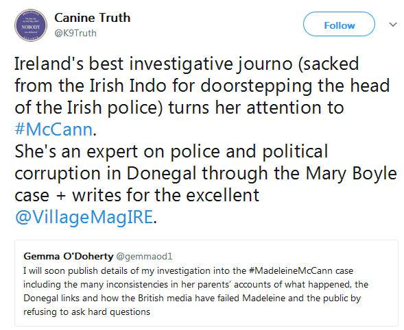 Gemma O'Doherty investigative journalist will soon publish details of her investigation into the Madeleine McCann case 344
