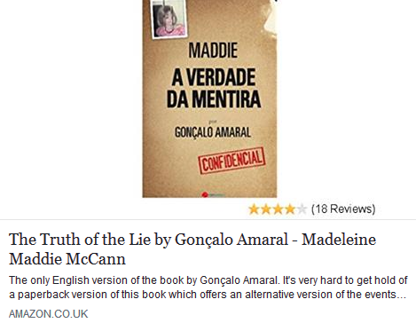 Gonçalo Amaral's Truth of the Lie being sold on Amazon - seller reported to Amazon and copyright holders Guerra e Paz 416