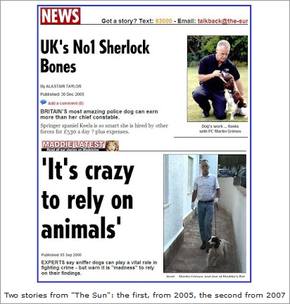 """Sniffer-dogs, the campaign against Eddie and Keela and """"Vanity Fair"""" story about Maddie  417"""
