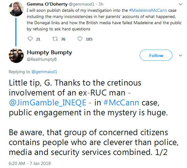 Gemma O'Doherty investigative journalist will soon publish details of her investigation into the Madeleine McCann case 628