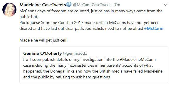 Gemma O'Doherty investigative journalist will soon publish details of her investigation into the Madeleine McCann case 822