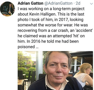 UPDATE: **'INQUEST - 24 January 2018'** The Complete Mystery of the Death of Kevin Halligen: An Update 15 January 2018 - Page 2 Adrian14