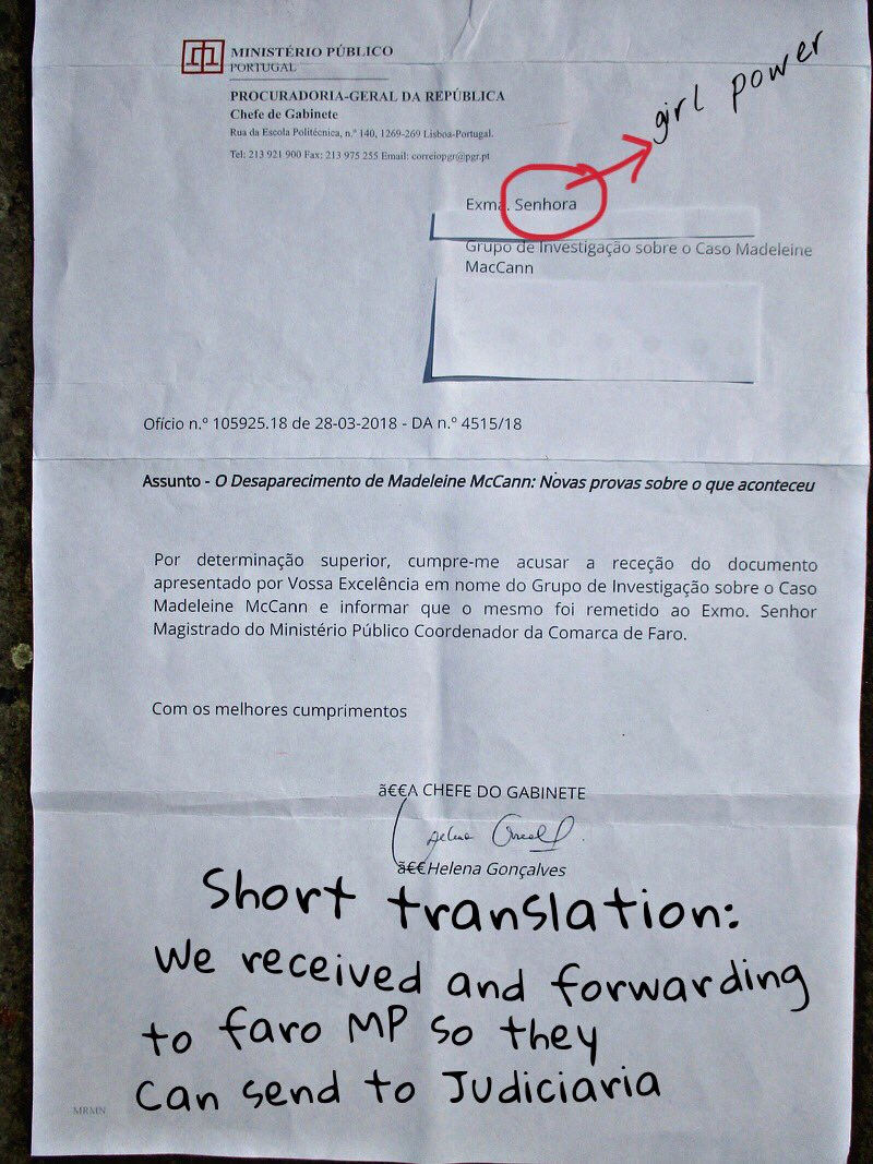 letter - LETTER TO PORTUGAL: The Disappearance of Madeleine McCann: New evidence of what happened to her Isabel10