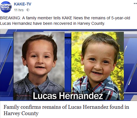 Stepmother of 5 yr old Lucas Hernandez jailed after child's remains found Lucas10