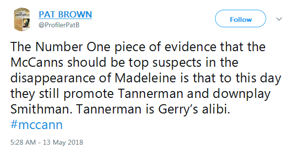 MADDIE TENNIS TWIST Gerry McCann played tennis with 'Tannerman' on the day Madeleine went missing Pat10