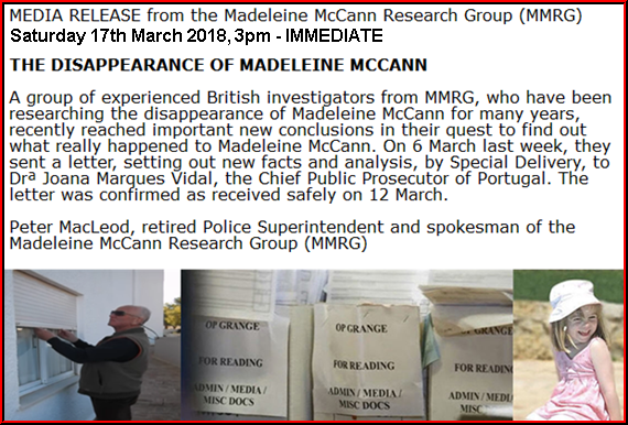LETTER TO PORTUGAL, SENT IN MARCH 2018  The Disappearance of Madeleine McCann: New evidence of what happened to her Peters10