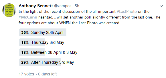 New TWITTER Poll on the LAST PHOTO Poll12