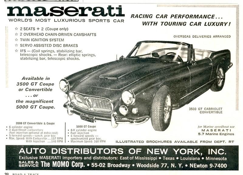 Vecchie pubblicità Maserati 3500gt10