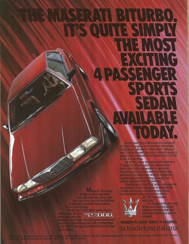 Vecchie pubblicità Maserati 425tk10