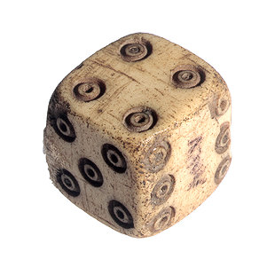 Dice from Backgammon Game 73-1-c10
