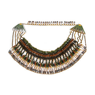Collar Made of Colored Faience Em-8-110