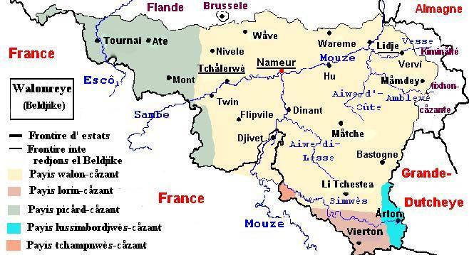 Situation linguistique de la Belgique  Mape_w10