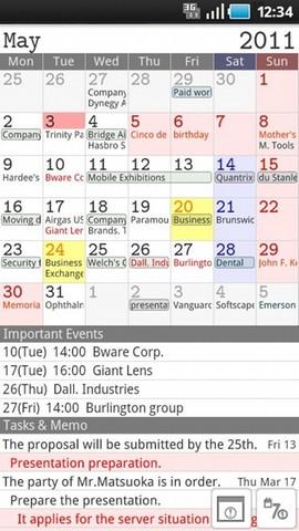 [WIDGET] JORTE : Calendrier et gestionnaire des tâches très complet [Gratuit] Screen29