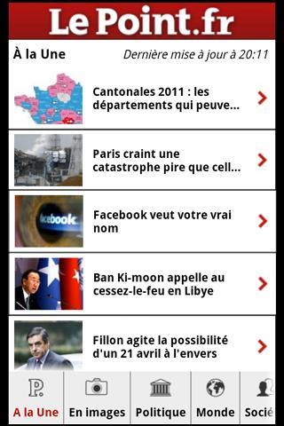 [SOFT] LEPOINT.FR : Le magazine le point sous Android [Gratuit] Screen38