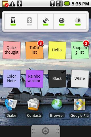 [WIDGET] COLOR NOTE : Notepad très pratique organisable par couleurs [Gratuit] Screen47
