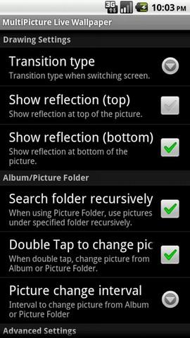 [WIDGET] MULTIPICTURE LIVE WALLPAPER : Configurer un fond d'écran différent pour chaque home [Gratuit/Donate] Screen49