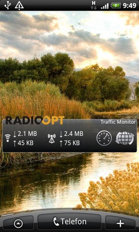 [WIDGET] TRAFFIC MONITOR WIDGET : Mesurer le trafic data via Wifi/Connexion cellulaire/Tethering [Gratuit] Screen58