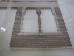 Pour les fans de diorama: les murs en briques faciles Stenci10