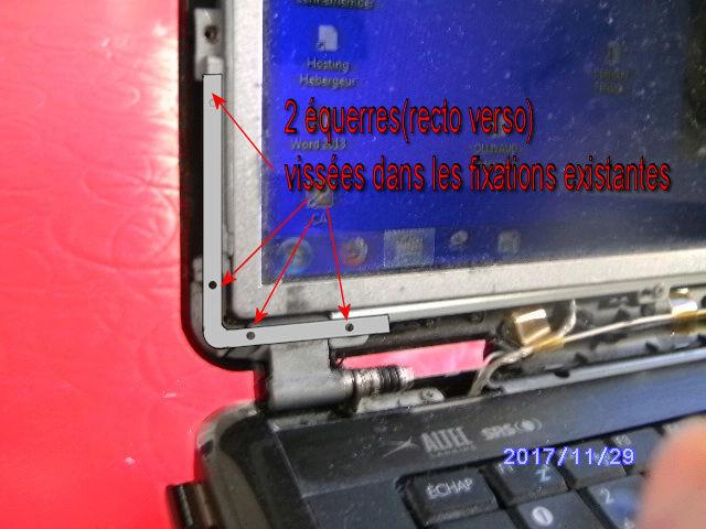 Réparer charnière cassée sur PC portable Rypara10