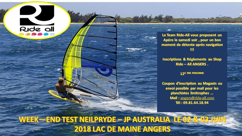 2 et 3 juin 2018 Week-end Tests matos RIDE ALL au Lac de Maine Diapos10
