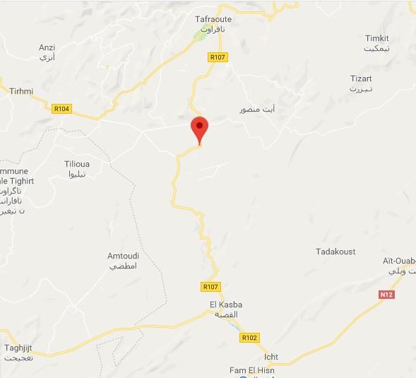 [Carburant, Routes, Police]  Nouvelle route de Tafraoute à Âit-Herbi sur la N 12  00000015