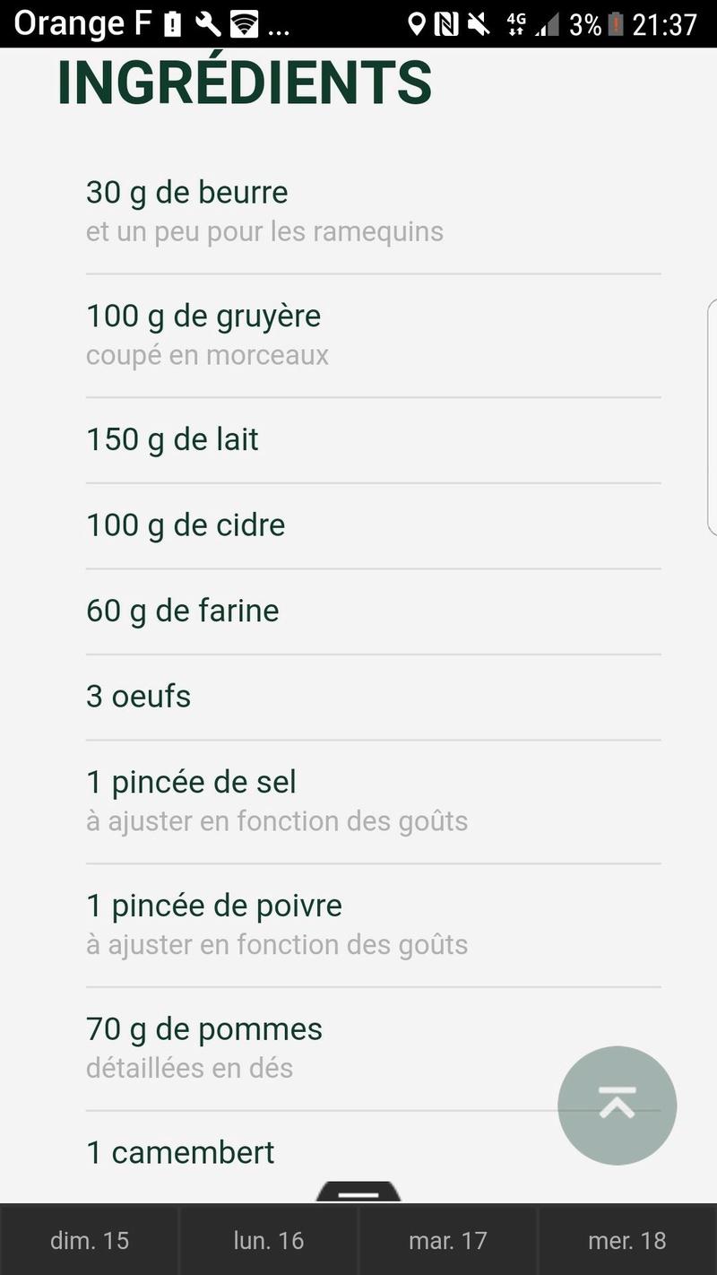 Moelleux camembert et cidre  50272610