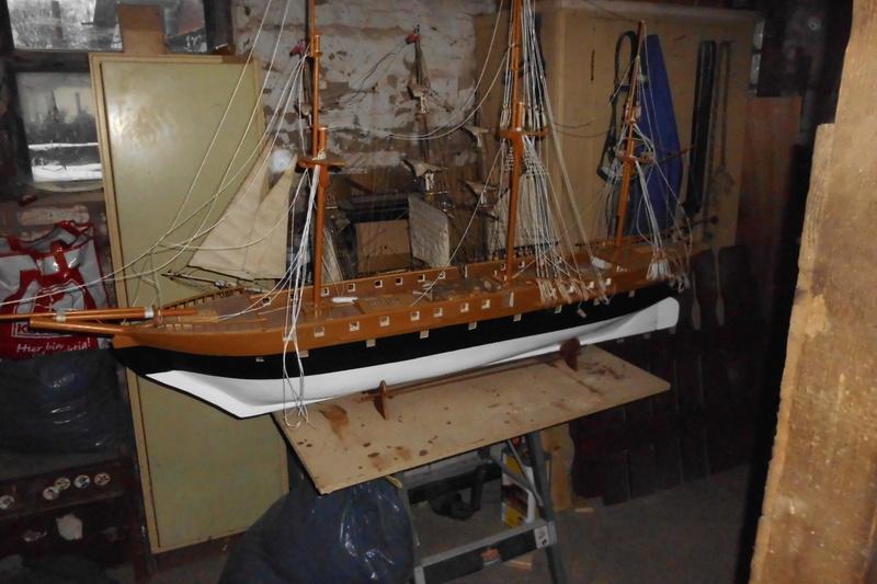 Restaurierung Dänische Fregatte Jylland 1:24 Dsci1811