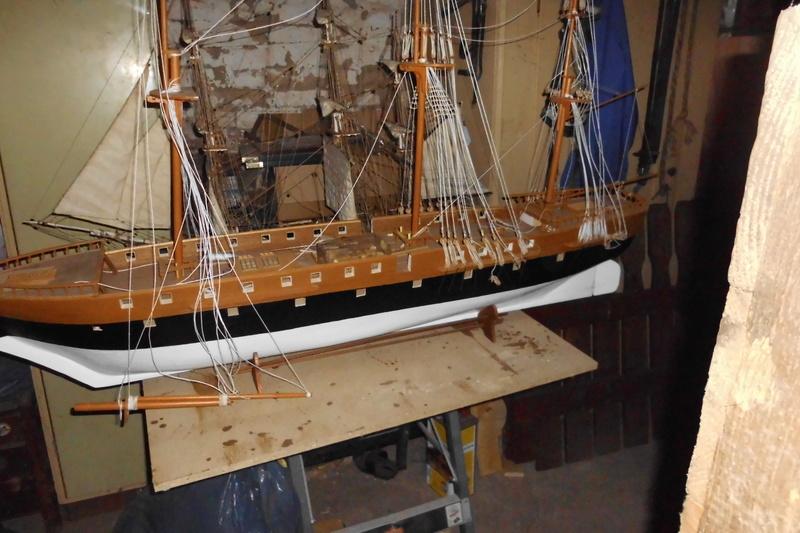 Restaurierung Dänische Fregatte Jylland 1:24 Dsci1812