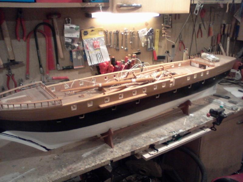 Restaurierung Dänische Fregatte Jylland 1:24 Foto-010