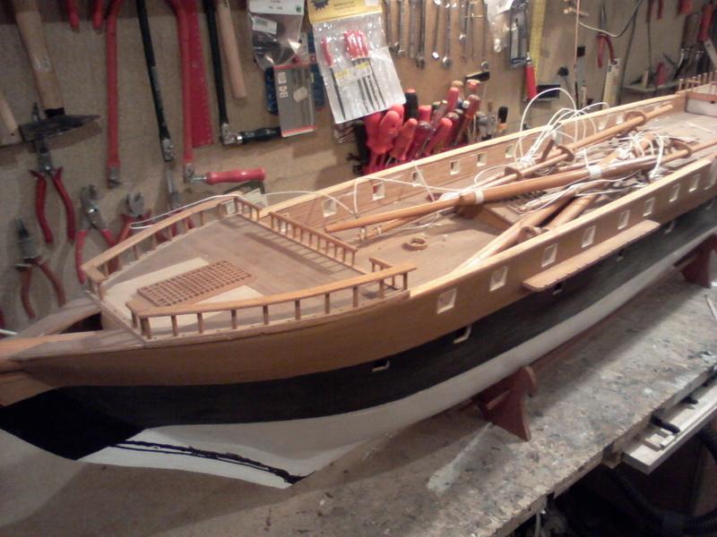 Restaurierung Dänische Fregatte Jylland 1:24 Foto-011